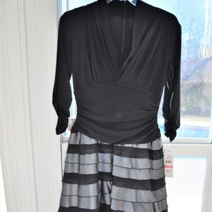 NWT Silver and Black Dress Size 10P